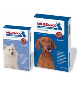 Milbemax chewable dewormer tablets for dogs and puppies