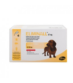 Eliminall spot-on flea and tick treatment for dogs - Pipettes