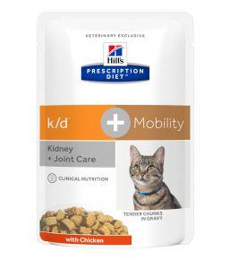 Hill's Prescription Diet k/d Feline with chicken pouches