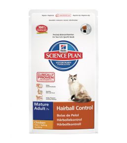 Hill's Science Plan Feline Mature Adult 7+ Hairball Control - Kibbles