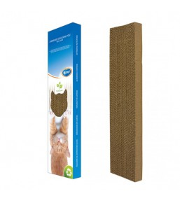 Cardboard cat scratcher with catnip